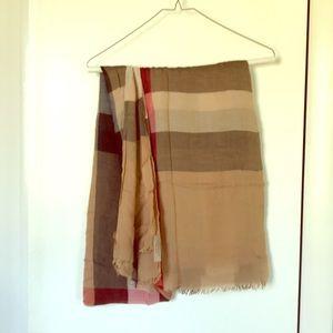 Burberry scarf, neutrals